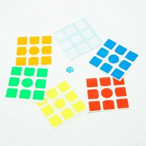 Наклейки для кубика Рубика Gan 3x3x3 Оригинальные